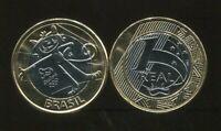 2016 UNC TOM MASCOTE PARALIMPICS BRAZIL 1 REAL COIN BI-METAL