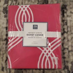 Pottery Barn Dorm Infinity Stripe Duvet Cover -  Pink - Size: Twin - NWT