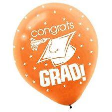 Congrats Grad Orange 12in Balloons 15ct