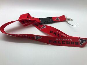 Atlanta Falcons Lanyard ID Badge Key Chain Clip Face Mask Holder Strap Saver