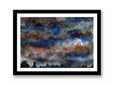 Dark skies  Acrylic abstract painting unique gift (Print) ID : 1517