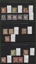 GERMANIA REICH. Insieme di francobolli usati: numeri 3, 10 (cinque pezzi), 13, 1
