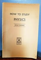 How to study physics Stanford University Press 1946 28 pg Booklet