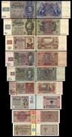 2x 1 - 100 Mark German Democratic Republic - Coupon Issue 1948 - 18 Banknotes