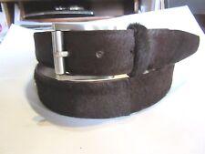 Prada Brown Cow Hair Belt Mens 42 Ladies XL Excellent condition