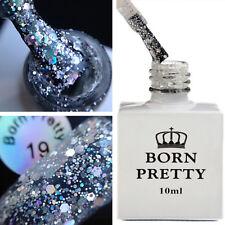 10ml Sequins White Nail Glitter Soak Off BORN PRETTY UV Gel Polish Varnish 19#