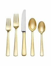 Reed & Barton Echo Gold 18/10 Stainless Steel Gold Leaf 5 Piece Place Set New