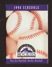 Colorado Rockies--1996 Pocket Schedule--Dugout Store