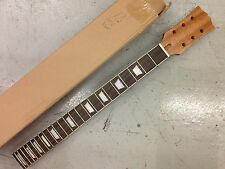 """BRAND NEW CUSTOM 24 FRET ELECTRIC GUITAR NECK, MAHOGANY/ROSE, 25.5"""" scale, No 13"""