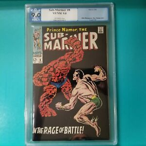 Sub Mariner 8 PGX 9.0 (not CGC)  1968 Classic Thing Battle Cover