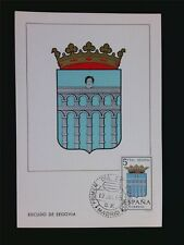 SPAIN MK 1965 ESCUDO SEGOVIA WAPPEN BLAZON MAXIMUMKARTE MAXIMUM CARD MC CM c5964