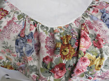 RALPH LAUREN Pink Blue Yellow Floral ALISON Double Full COTTON Bed Skirt