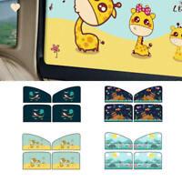 4X Cartoon Magnetic Baby Car Window Sun Shade Visor Curtain Kids Side Shie EOV