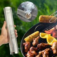 12'' Smoker Tube BBQ Wood Pellet Smoke Box Charcoal Grilling Meat Gas T9X8