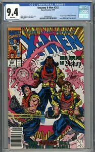 Uncanny X-Men #282 CGC 9.4 NM Newsstand Variant 1st Appearance of Bishop WHITE