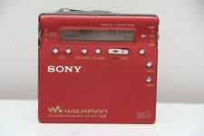 Sony MZ R900 MDLP  MiniDisc Walkman Player Recorder Red Good Condition MDLP