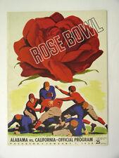 1938 Rose Bowl Program Alabama vs. California - Pasadena Ca. - Sharp!
