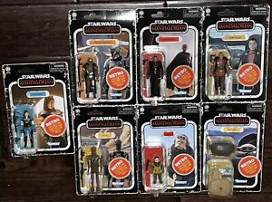 Star Wars Retro Collection 3.75 Set of 7 Mandalorian Cara Dune The Child In Hand