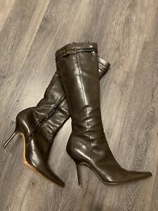 Dior Brown High Heel Boots 41 Pre-Owned
