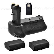 Battery Grip for Canon EOS 70D BG-E14 + 2x LPE6 Batteries + Remote Control