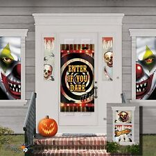 Halloween Creepy Carnival Clown Party Door Poster Scene Setter Decorating Kit