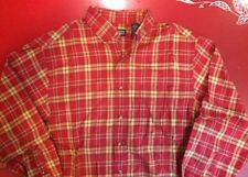 Lands End Red Plaid Men's M 15-15.5 Super Soft!