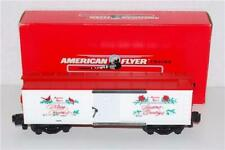 AMERICAN FLYER 1992 S-SCALE 6-48314 CHRISTMAS  BOX CAR W/BOX