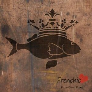 Fish Prince & Crown Stencil Frenchic Chalky Paint A4 Furniture Paint FREE POST