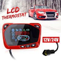 12~24V Red LCD Thermostat Display Switch For Diesel Air Parking Heater Car