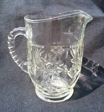 "Anchor Hocking Early American Prescut EAPC Pint Pitcher, 5 1/2"" Tall, Excel Cond"