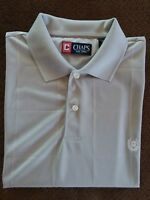 Mens  Chaps Golf Stay-Dry Pale Gray Polo Shirt Short/ Sleeve Large MSRP $55