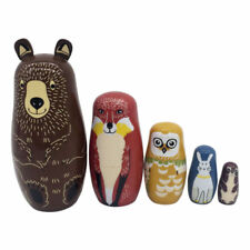 Russian Semenov Nesting dolls Matryoshka set 5 pcs. Hand painted in Russia Gift