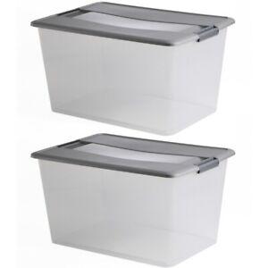 LOT DE 2 boîtes de rangement à clips KLIKER BOX 48L
