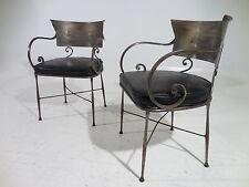 2 Ornate Italian Iron Chairs Mid 20th Century Modern Maison Jansen Era
