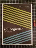 Sound Garden Concert Poster -  14 x 10 Reprint