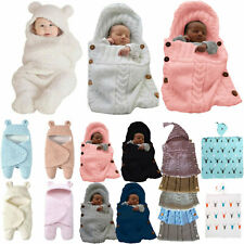 Newborn Baby Swaddle Sleeping Bag Infant Knitted Warme Soft Comfy Blanket Wrap