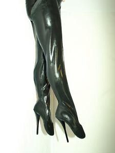 high heels latex gummi  boots ballet size 42-47 absatz 21cm -promotion !!! 1027