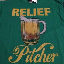 "Mad Engine ""Relief Pitcher"" Men's Green T-Shirt Size Medium New!"