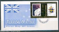 TUVALU 2010 GOLD FOIL POPE JOHN PAUL II FIRST DAY COVER RARE