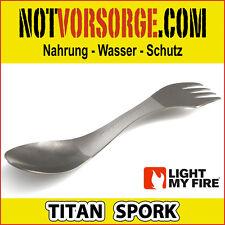 Light My Fire Titan Spork Besteck Messer Gabel Löffel IN EINEM Camping Titanium
