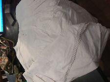 bel ancien jupon plis volant bordé de dentelle