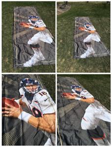 Peyton Manning Super Bowl 48 XLVIII Stadium Game Used Banner HUGE 22 ft x 7 ft