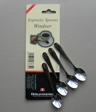 Set of 4 Short 10cm Stainless Steel Espresso Coffee Spoons Small Caddy