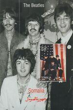 Los Beatles John Lennon Paul Mccartney Somalia 2002 estampillada sin montar o nunca montada SELLO Sheetlet