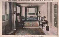 Postcard Reception Room Hotel Harrington Washington DC