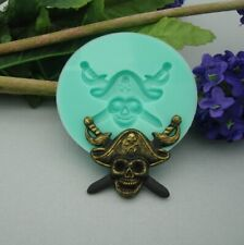 Pirat Skull Silicon Mold Flexible Silicone Mould for Crafts, Jewelry, Resin.
