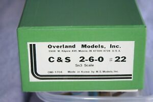 Overland Models C&S 2-6-0 22 PROJECT in Sn3 scale