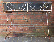 VINTAGE RUSTY 1950'S METAL WROUGHT IRON PLANTER FRAME STAND BOX