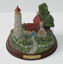 "Thomas Kincade Seaside Memories ""The Light of Peace"" Mini Lighthouse Tested"