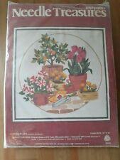Vintage Needle Treasures Stitchery Kit Potted Plants #00516